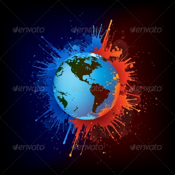 GraphicRiver Globe in Paint 4983150