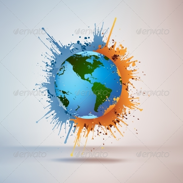 GraphicRiver Globe in Paint 4983152