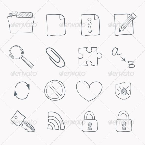 GraphicRiver Sketch Icon Set 4983295