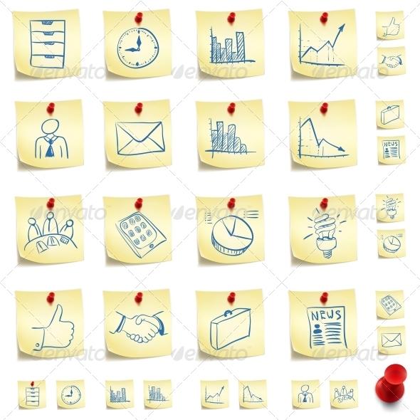 GraphicRiver Sticker Icon Set 4983380
