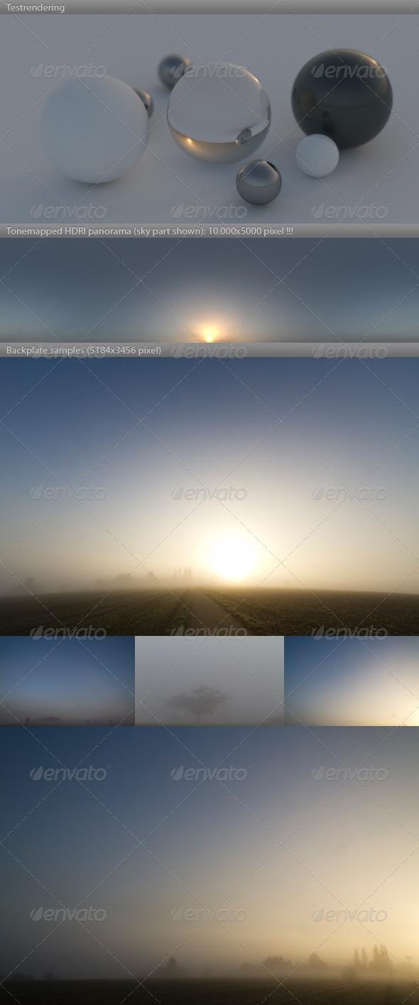 HDRI spherical sky panorama -0805-  fog & mist - 3DOcean Item for Sale