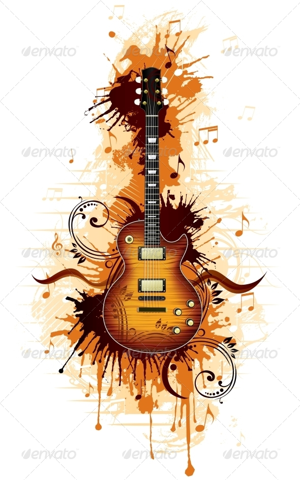 GraphicRiver Electric Guitar 4983450