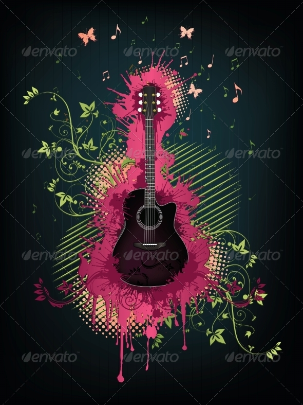 GraphicRiver Acoustic Guitar 4983569