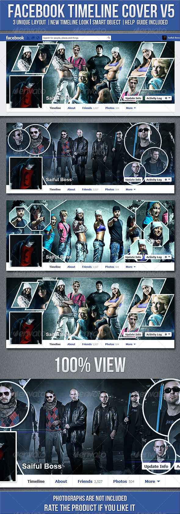 GraphicRiver FB Timeline Cover V5 4983570