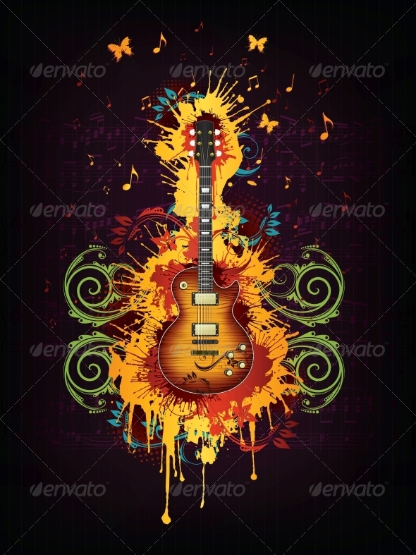 GraphicRiver Electric Guitar 4983572