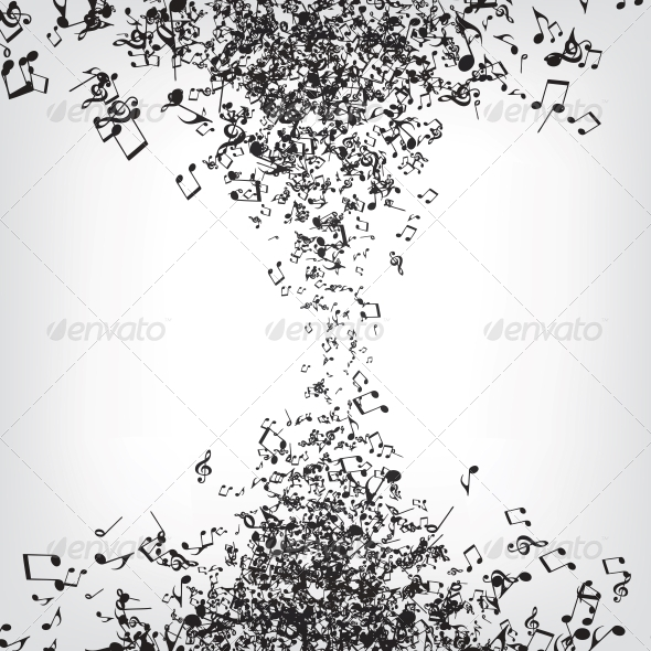 GraphicRiver Music Notes Texture 4983593