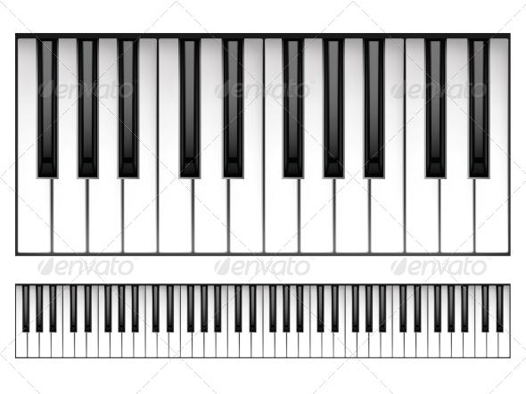 GraphicRiver Piano Keyboard 4983598