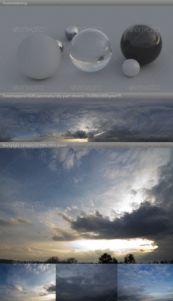 HDRI spherical sky panorama -1901- spring evening - 3DOcean Item for Sale