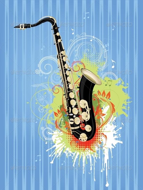 GraphicRiver Saxophone 4983602