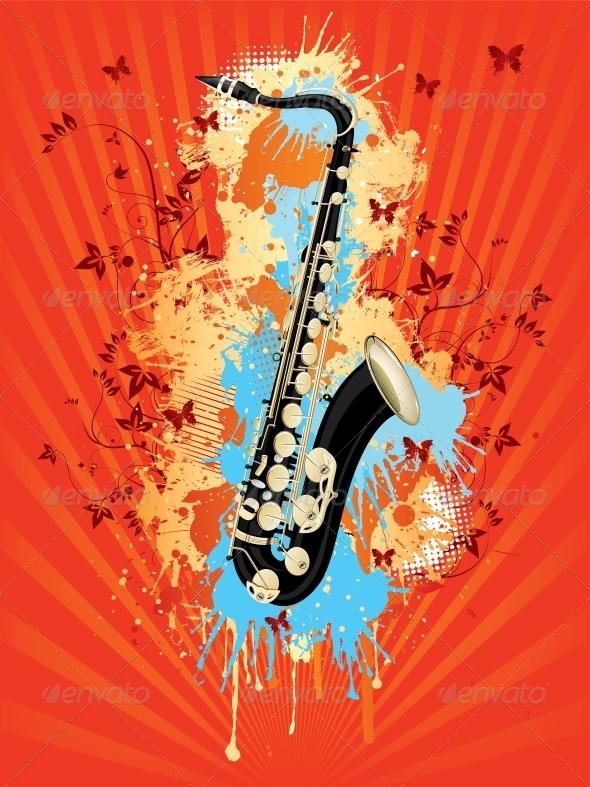 GraphicRiver Saxophone 4983636