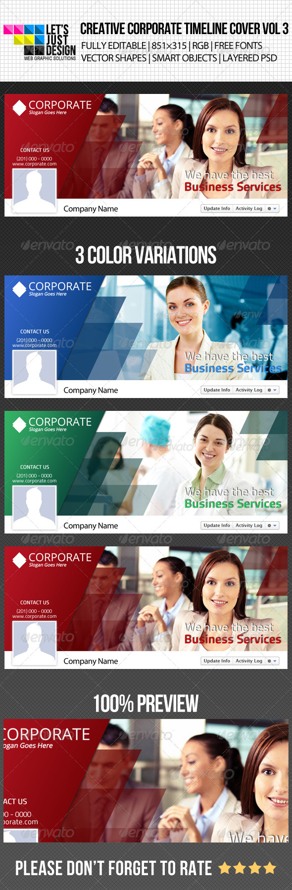 GraphicRiver Creative Corporate Facebook Timeline Cover Vol 3 4983657