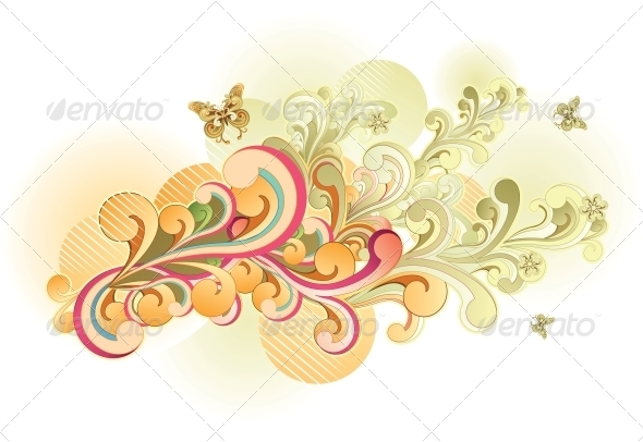 GraphicRiver Retro Swirl 4983712