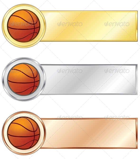 GraphicRiver Basketball Medals 4983746