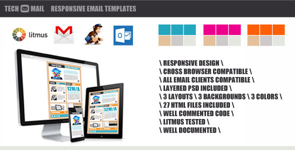 ThemeForest TechMail Responsive Email Template 4983795