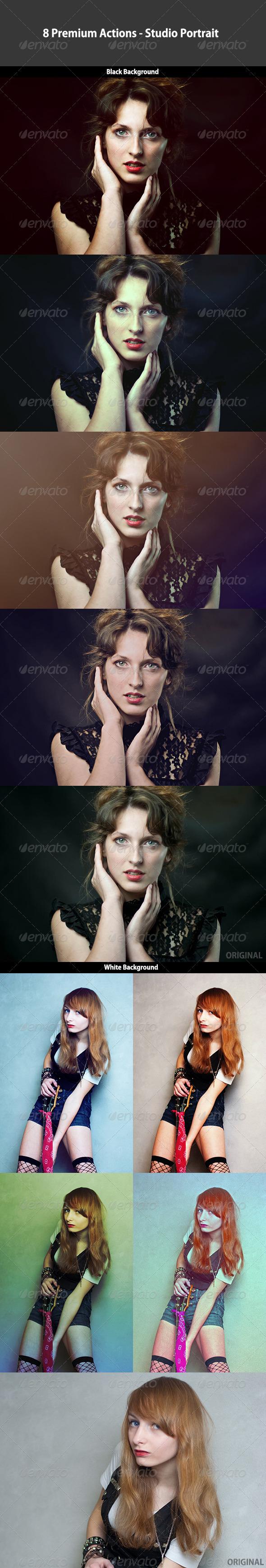 GraphicRiver 8 Premium Actions Studio Portrait 4983806