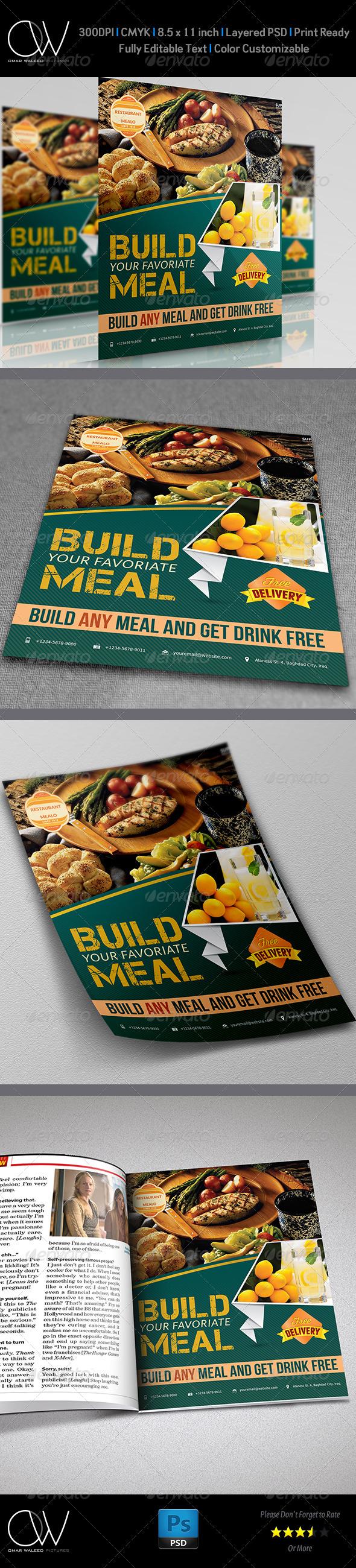 GraphicRiver Restaurant Flyer 4984201