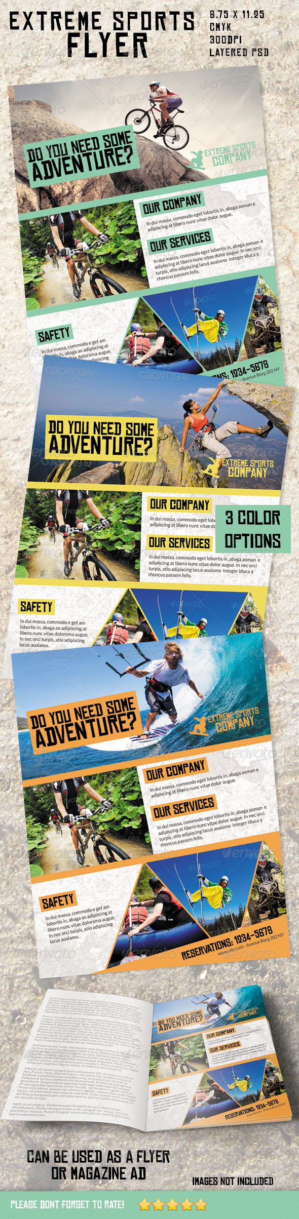 GraphicRiver Extreme Sports Flyer Magazine Ad 4984266