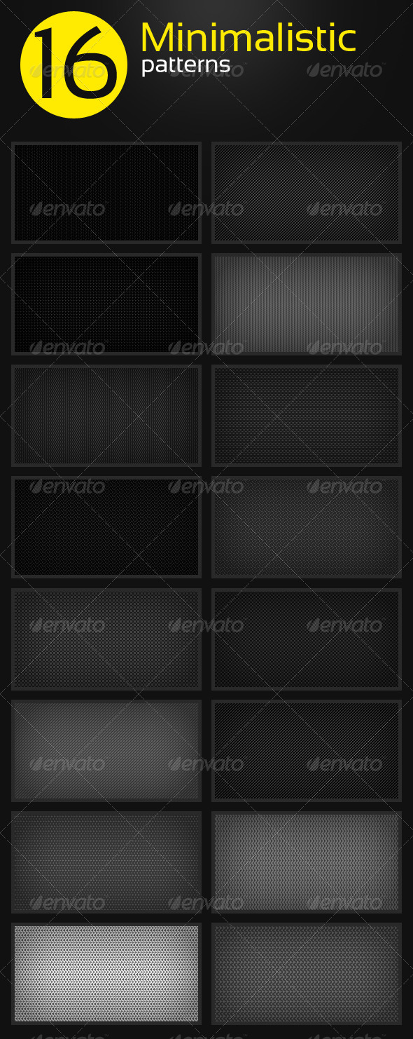 GraphicRiver 16 Minimalistic Clean Patterns 4984475