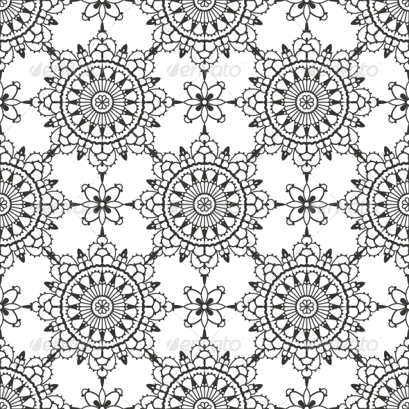 GraphicRiver Lace Seamless Pattern 4984616