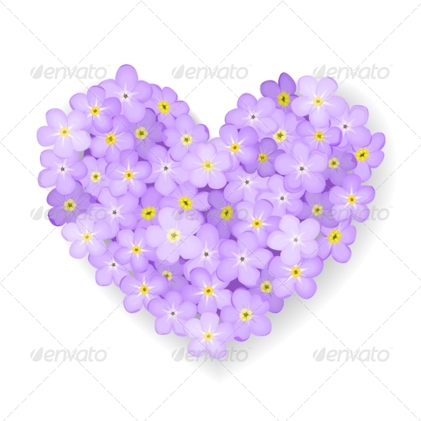 GraphicRiver Vector Floral Heart 4984707
