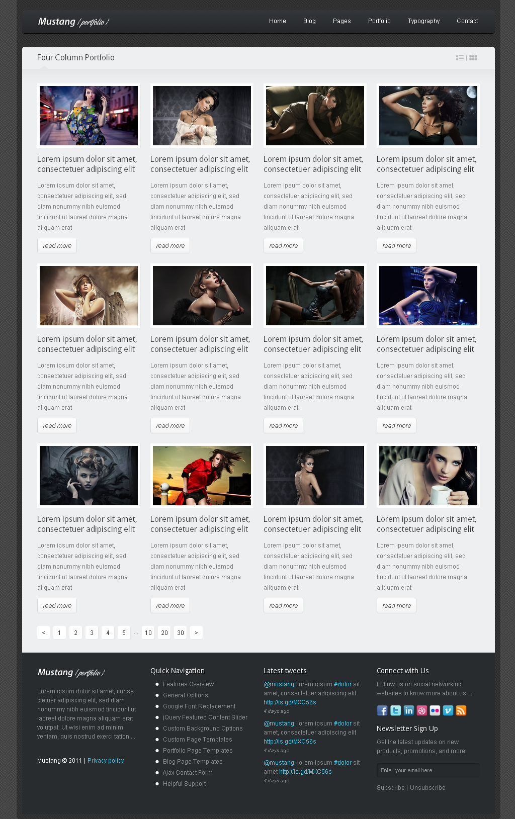 Mustang - Clean and Modern Website Template