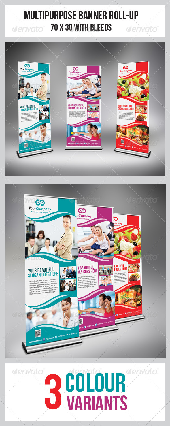 GraphicRiver Multipurpose Business Roll-Up 4985216