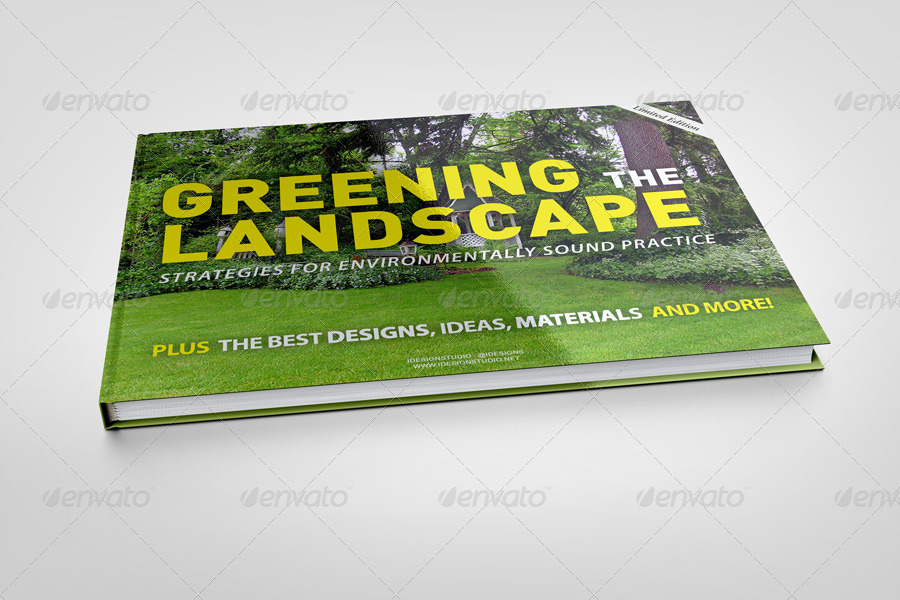 A4 Landscape Book Mock-Up
