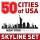 The Best Vector City Skyline Set 50 USA cities - GraphicRiver Item for Sale