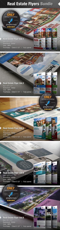 GraphicRiver Real Estate Flyers Bundle 4986192