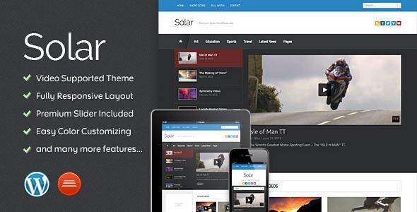 ThemeForest Solar Video WordPress Theme 4986212