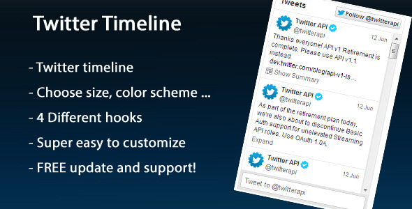CodeCanyon Twitter Timeline 4986459