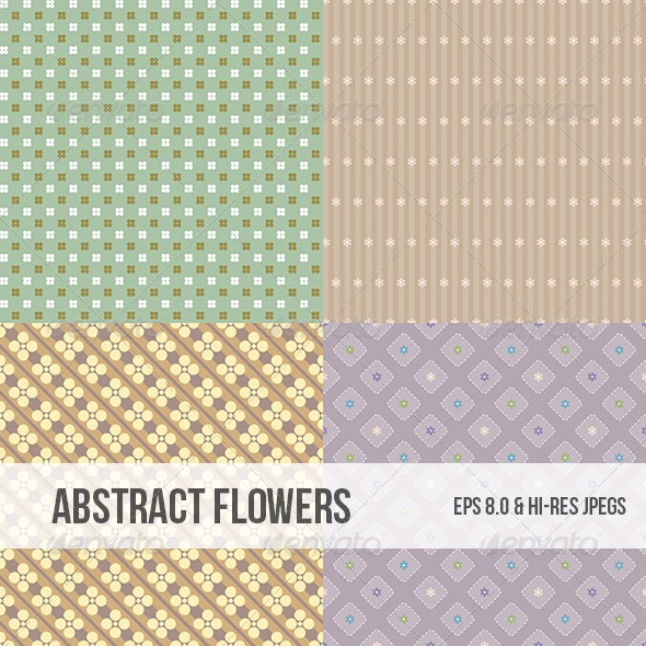 GraphicRiver Seamless Abstract Flower Pattern Background 4986789