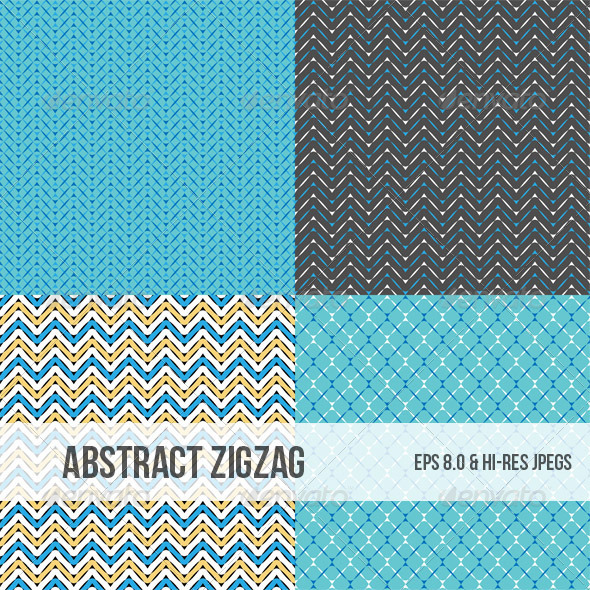 GraphicRiver Seamless Zigzag Abstract Patterns 4986798