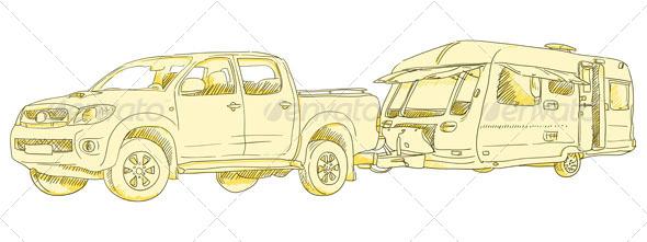 GraphicRiver Caravan Drawing 4987222
