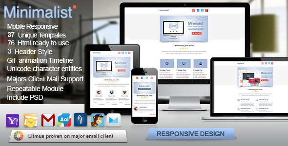 Minimalist - Responsive Email Template - Newsletters Email Templates