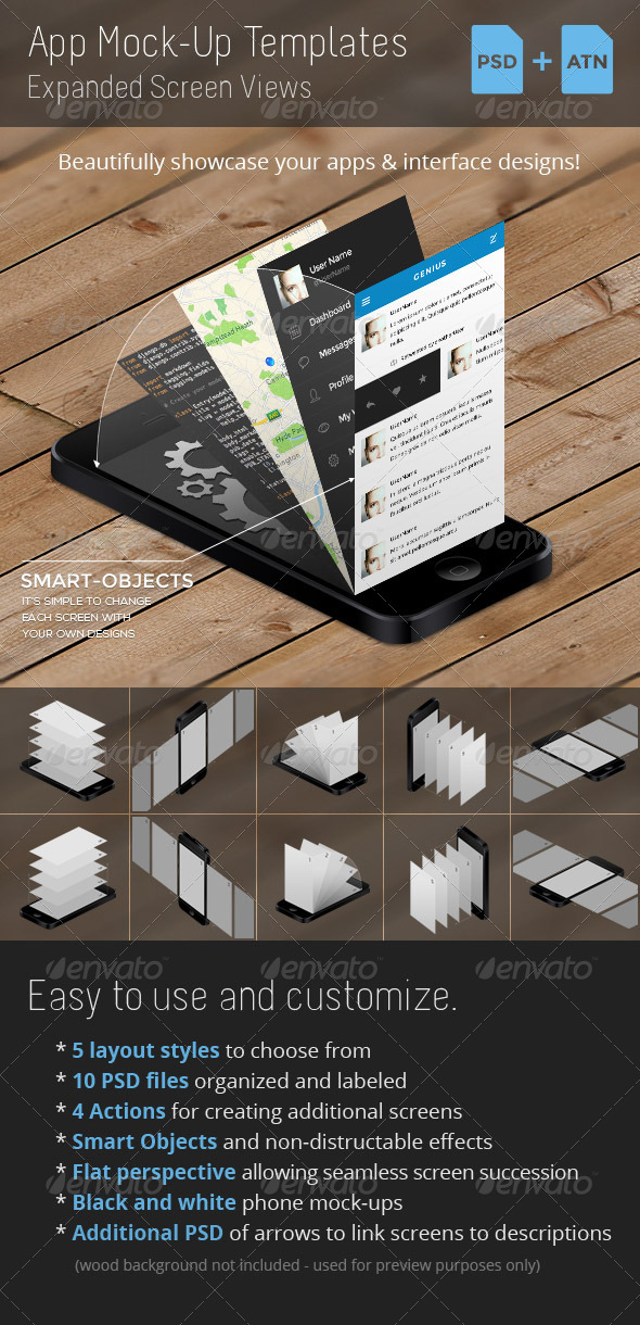 GraphicRiver App Mock-Up Templates 4987245