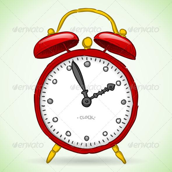 GraphicRiver Red Alarm Clock 4987387