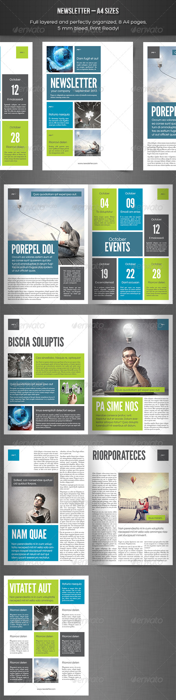 GraphicRiver Newsletter vol 9 Indesign Template 4987390