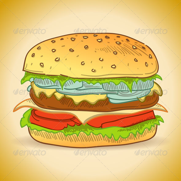 GraphicRiver Tasty Burger 4987394