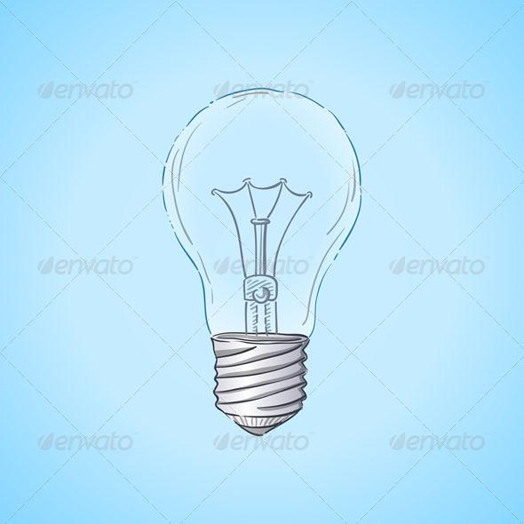 GraphicRiver Lightbulb Illustration 4987400