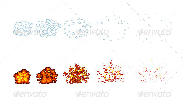 GraphicRiver Two Types of Explosions for Animation 4987463