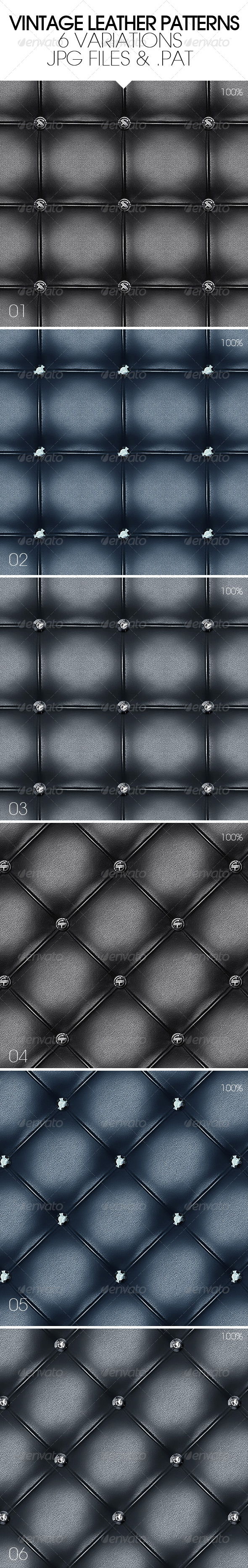 GraphicRiver Vintage Leather Patterns 4972430