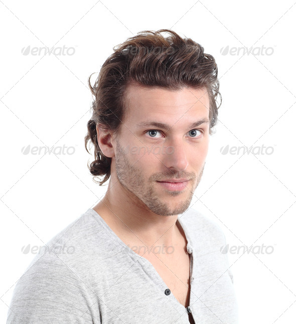 Portrait of an attractive young man - Stock Photo - Images