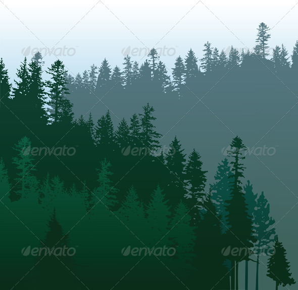 GraphicRiver Coniferous Forest 4987603