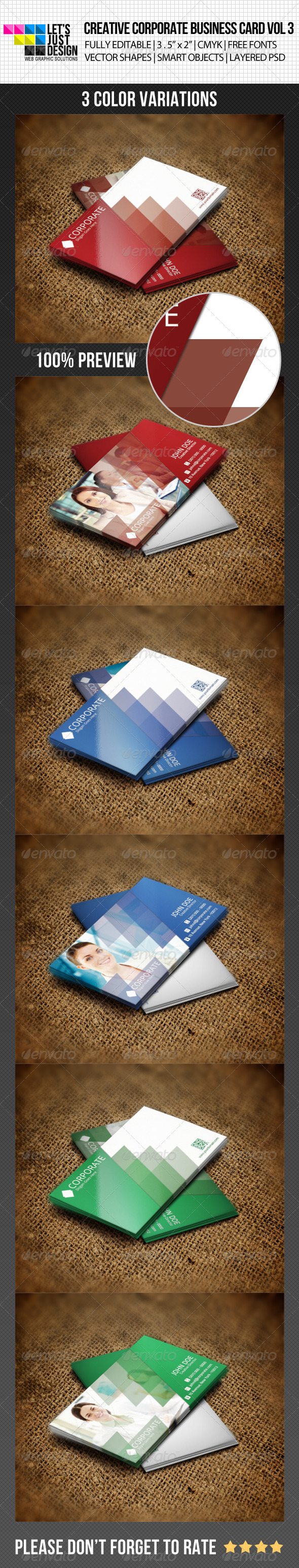 GraphicRiver Creative Corporate Business Card Vol 3 4987656