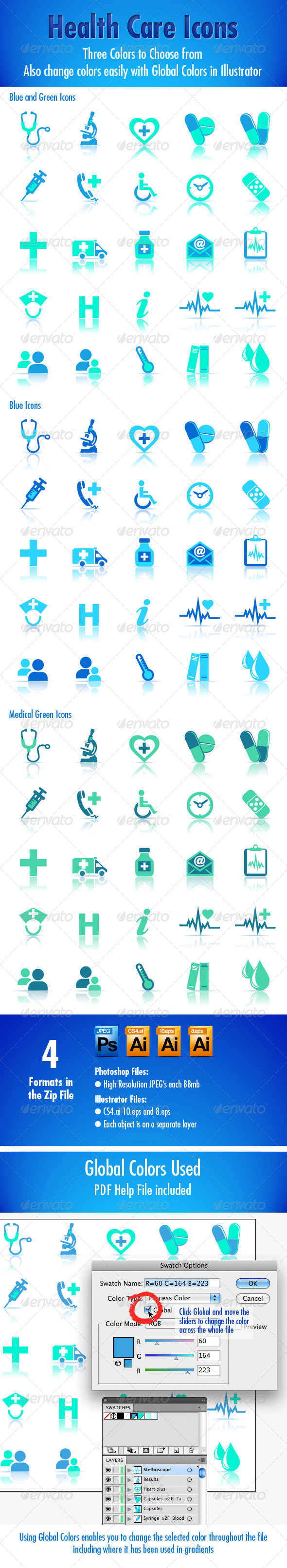 GraphicRiver Health Care Icons 4972878