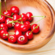 Cherry in wooden bowl - PhotoDune Item for Sale
