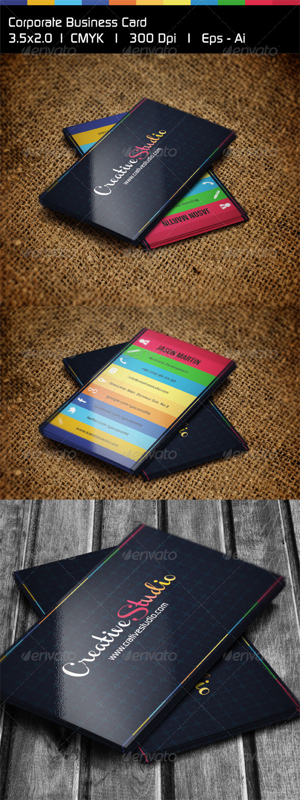 GraphicRiver Creative Colorful Business Card 4987824