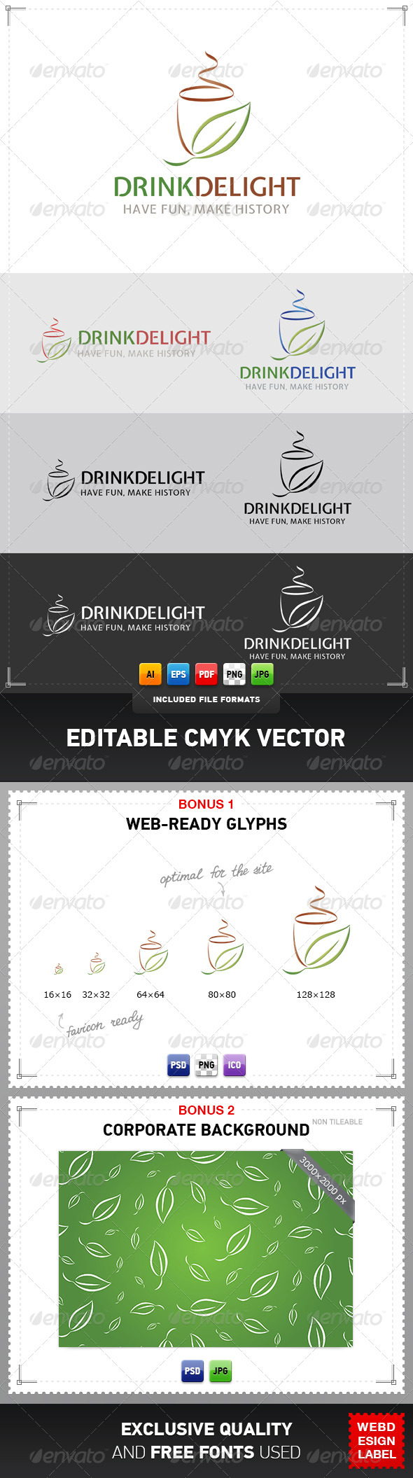 GraphicRiver Drink Delight Logo 4988199