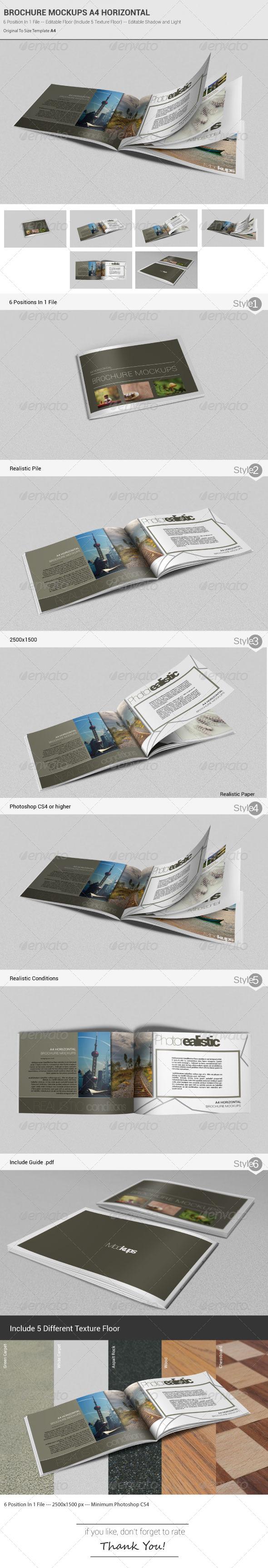 GraphicRiver Brochure Mockups A4 Horizontal 4988223